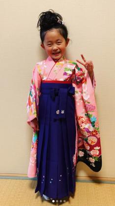 卒園式 袴着付け 京都
