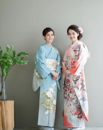 親子ショット 成人式前撮り 京都 訪問着 振袖 着付け