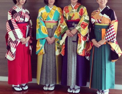 袴着付け 卒業式 入学式 京都 大学