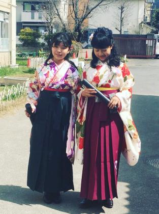 小学校卒業式 袴 着付け 京都