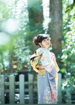 成人式前撮り 京都 振袖着付け ロケ撮影