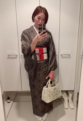 大島紬 着物コーディネート