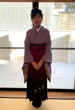 袴 着付け 京都市内 卒業式
