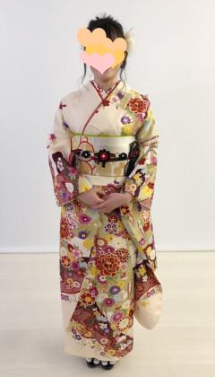 京都 振袖着付け 成人式前撮り