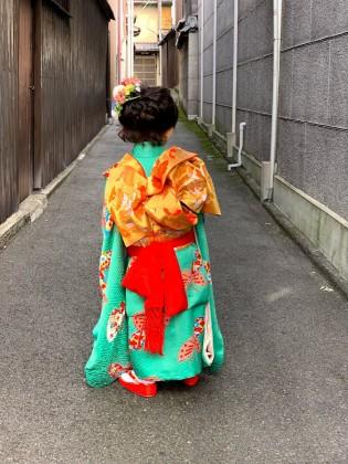 京都 七五三 子供着物 着付け