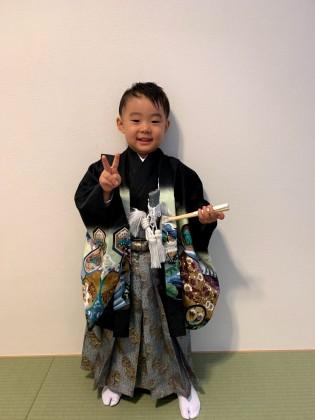 紋付袴 七五三 子供着物 着付け 京都