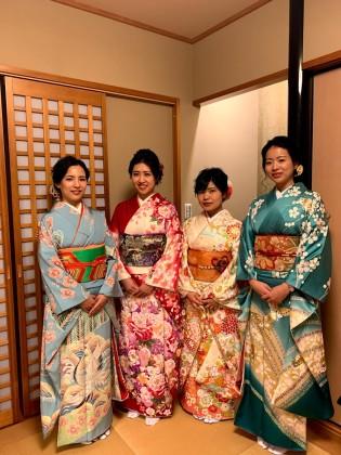 仕事始め 振袖着付け 京都 2020年