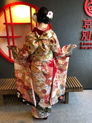 成人式前撮り 2020年 振袖着付け 京都