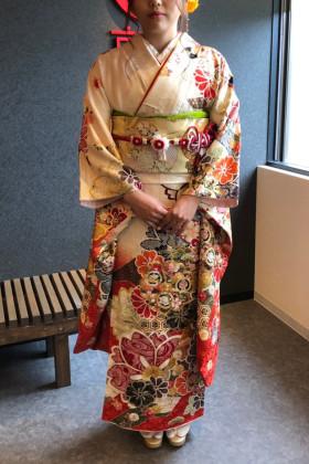 成人式前撮り 振袖着付け 京都