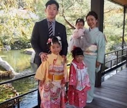 七五三 子供着物 着付け 京都 家族写真