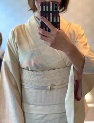 カジュアル着物 京都 紅花紬